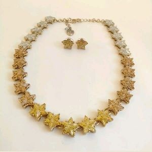 Betsey Johnson Star Necklace and Earrings Set